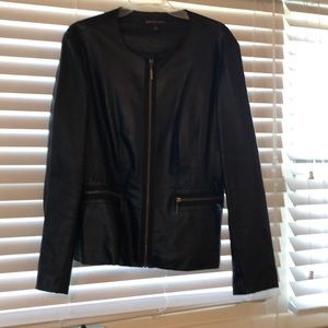 Dana Buchanan faux leather jacket